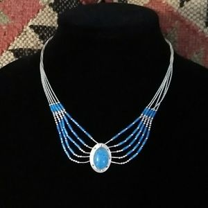 Southwest Sterling Silver & Turquoise Neclace